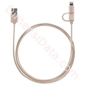 Jual Charge Lightning Cable Targus 2-in-1 Gold [ACC99507AP]